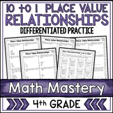 Place Value Relationships 10 to 1 Worksheets