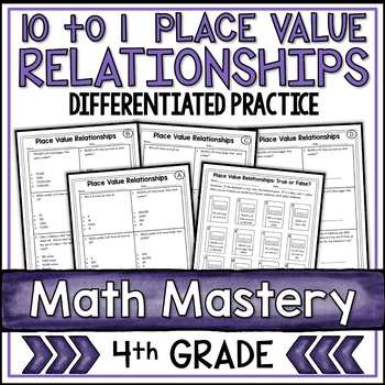 Place Value Relationships 10 to 1 (4th Grade Common Core M