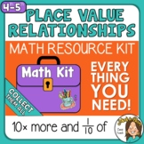 Place Value Relationships 10 x bigger and 1/10 of 4th grad