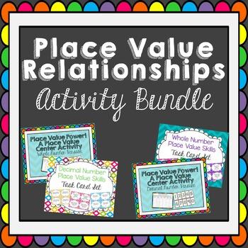 Place Value Relationships Activity Bundle