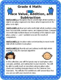 Place Value Relationships, Addition, and Subtraction: Grade 4
