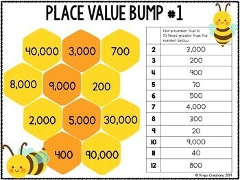 Place Value Relationships Bump