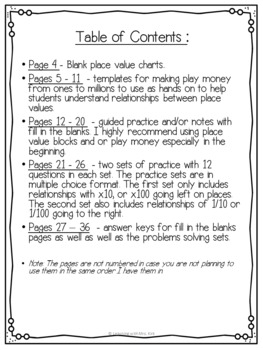 Place Value Relationships Guided Notes & Practice Grade 4