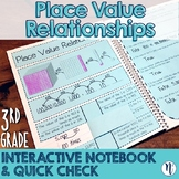 Place Value Relationships Interactive Notebook Activity & Quick Check TEKS 3.2B
