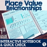 Place Value Relationships Interactive Notebook Activity &
