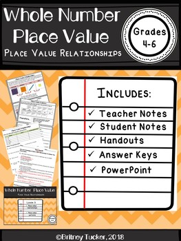 Place Value Relationships (LESSON, ACTIVITIES, & POWERPOINT)