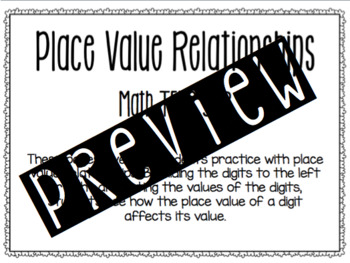 Place Value Relationships Practice