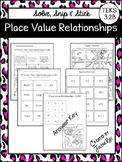 Place Value Relationships: Solve, Snip & Stick: TEKS 3.2B