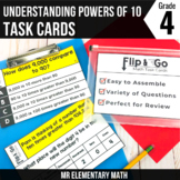 Place Value Understanding Powers of 10 Task Cards 4th Grad