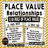 Place Value Relationships-Matching Cards- X 10 Rule- 4.2A-