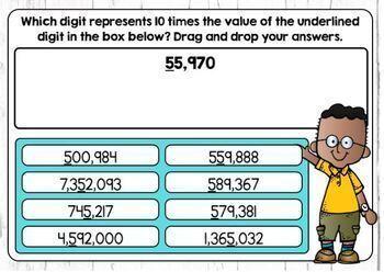 Place Value Relationships in Base 10 Digital Boom Cards