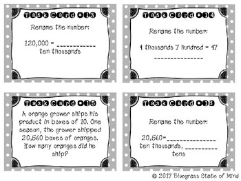 Place Value Renaming Task Cards