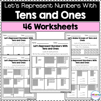 Place Value (Tens and Ones) Worksheets