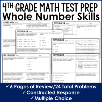Place Value, Representing, and Rounding Numbers {4th Common Core Test Prep}