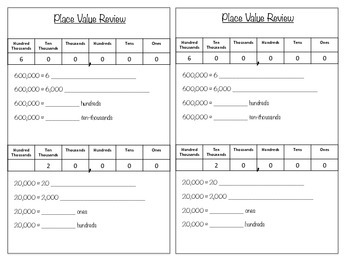 Place Value Review