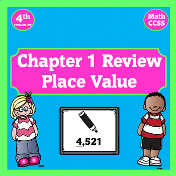Place Value Chapter 1 Review Powerpoint ~ 4th Grade Math