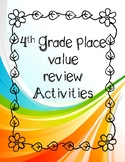 Place Value Review Activities