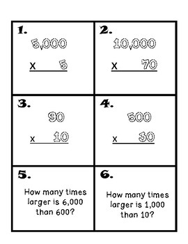 Place Value Review- Around The Room Scavenger Hunt