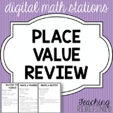 Place Value Review: Digital Math Stations {FREEBIE}