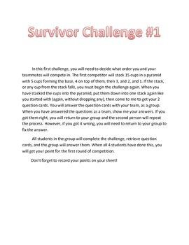 Place Value Review Game Survivor Theme