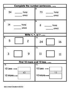 Place Value Review - Grade 1