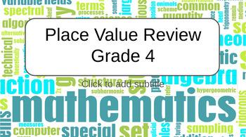 Place Value Review Grade 4