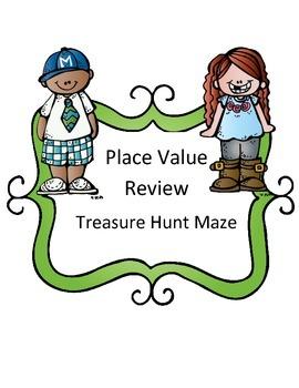 Place Value Review: Treasure Hunt Maze