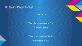 Place Value Review PPP Lesson Plan