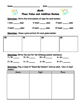 Place Value Review/ Place Value Game