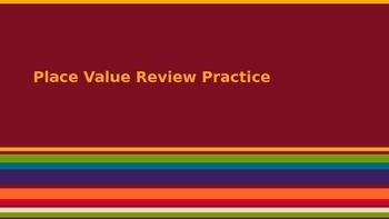 Place Value Review Practice (Texas TEKS)
