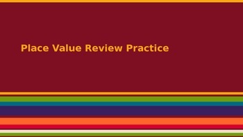 Place Value Review Practice (Texas TEKS)