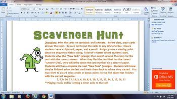 Place Value Review Scavenger Hunt Activity