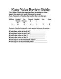 Place Value Review Study Guide
