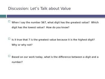 Place Value Review (Third Grade)