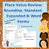 Place Value Review Worksheet: Rounding, Standard, Expanded