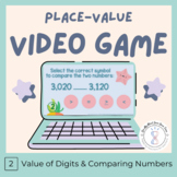 Place Value Review Worksheet and Video Game Volume 2