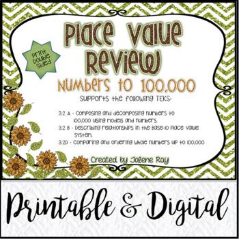 Place Value Unit 1 Review: TEKS 3.2A, 3.2B, 3.2D & CCSS: 4.NBT.A.2