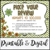 TEKS 3.2A, 3.2B, 3.2D / Place Value Review / Printable & Digital