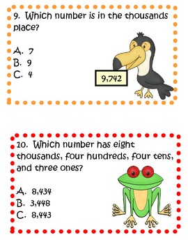 Place Value Review with Rainforest Friends