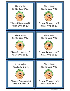 Place Value Riddle Cards
