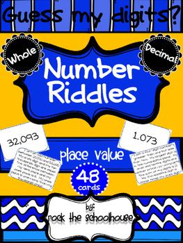 Place Value Riddle Cards BUNDLE