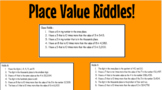 Place Value Riddles!