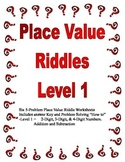 Place Value Riddles Level 1 (Up to Thousands Place)