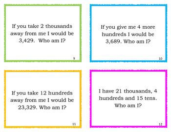Place Value Riddles Upper Grades