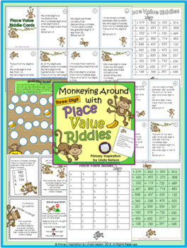 Place Value Riddles for Three-Digit Numbers Bundle