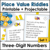 Place Value Riddle Task Cards for Three-Digit Numbers