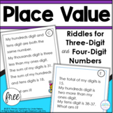 Place Value Riddles for Three Digit and Four Digit Numbers