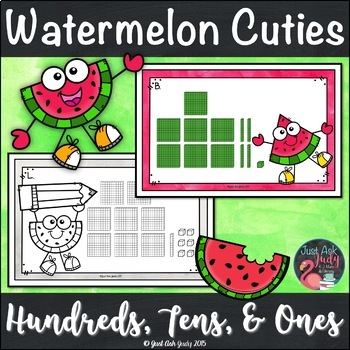 Place Value Activity Hundreds Tens and Ones Watermelon Cuties