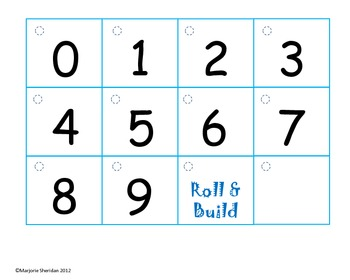 Place Value Roll & Build Center Activity