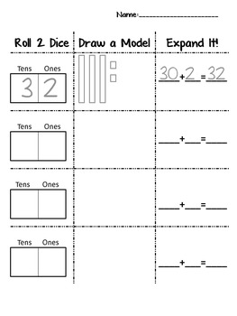 Place Value: Roll, Draw, Expand!